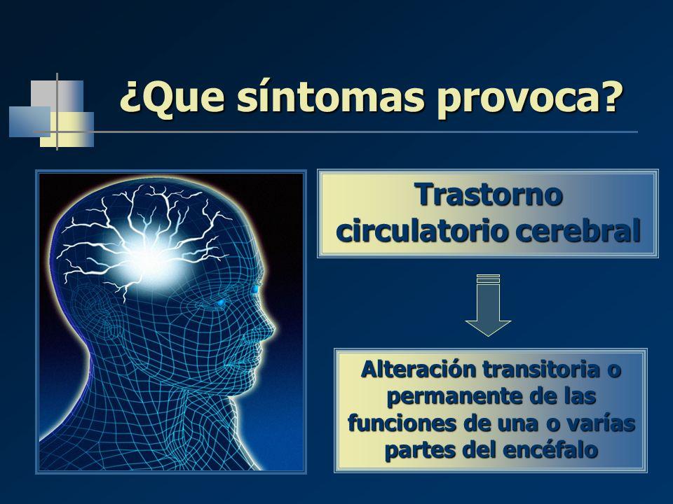 Trastorno circulatorio cerebral