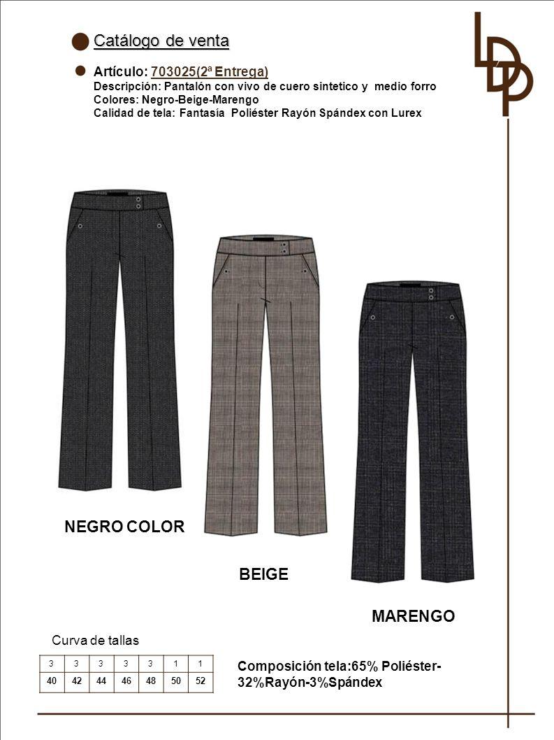 Catálogo de venta NEGRO COLOR BEIGE MARENGO