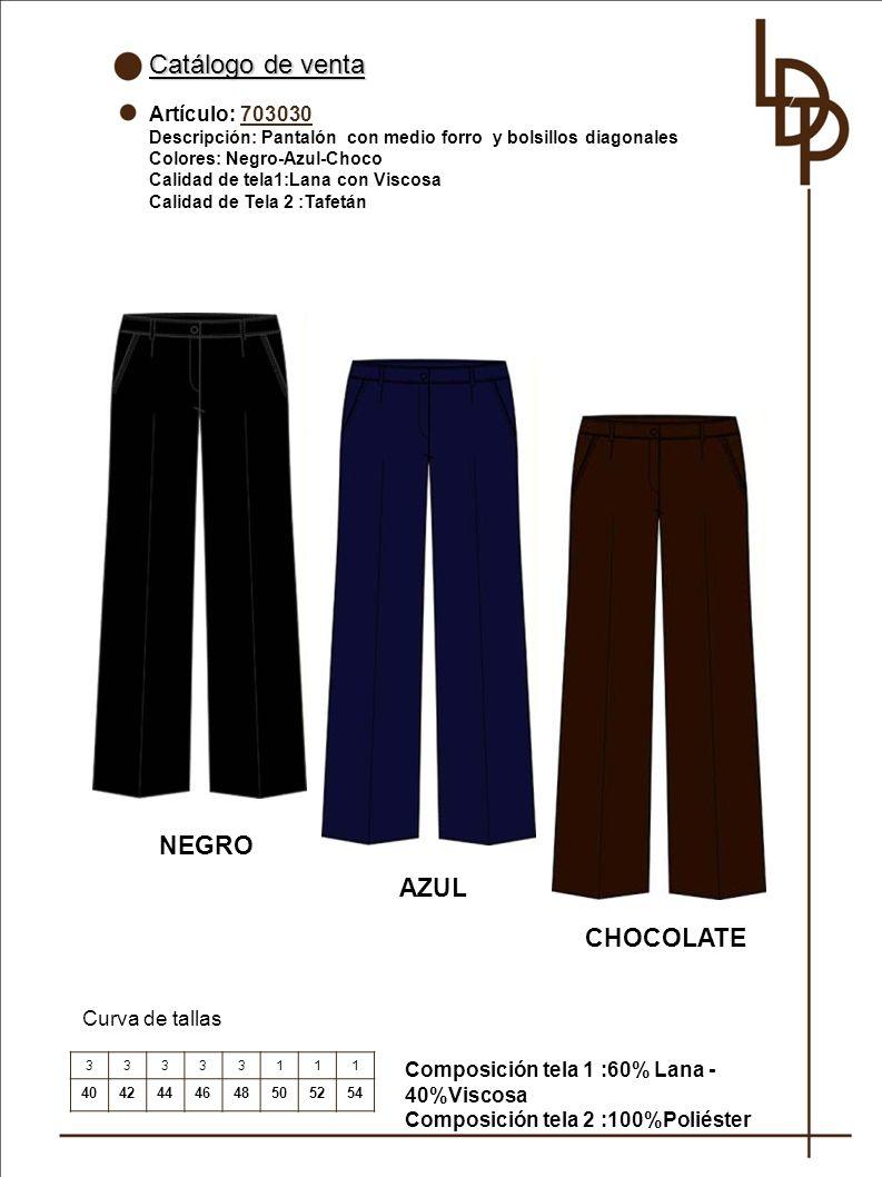 Catálogo de venta NEGRO AZUL CHOCOLATE Artículo: 703030