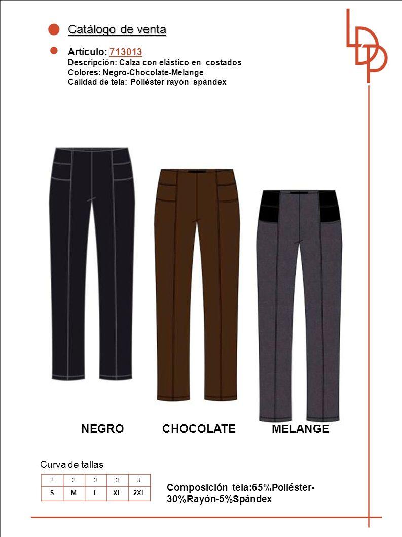 Catálogo de venta NEGRO CHOCOLATE MELANGE Artículo: 713013