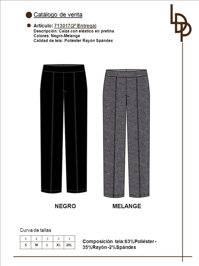 Catálogo de venta NEGRO MELANGE Artículo: 713017(2ª Entrega)