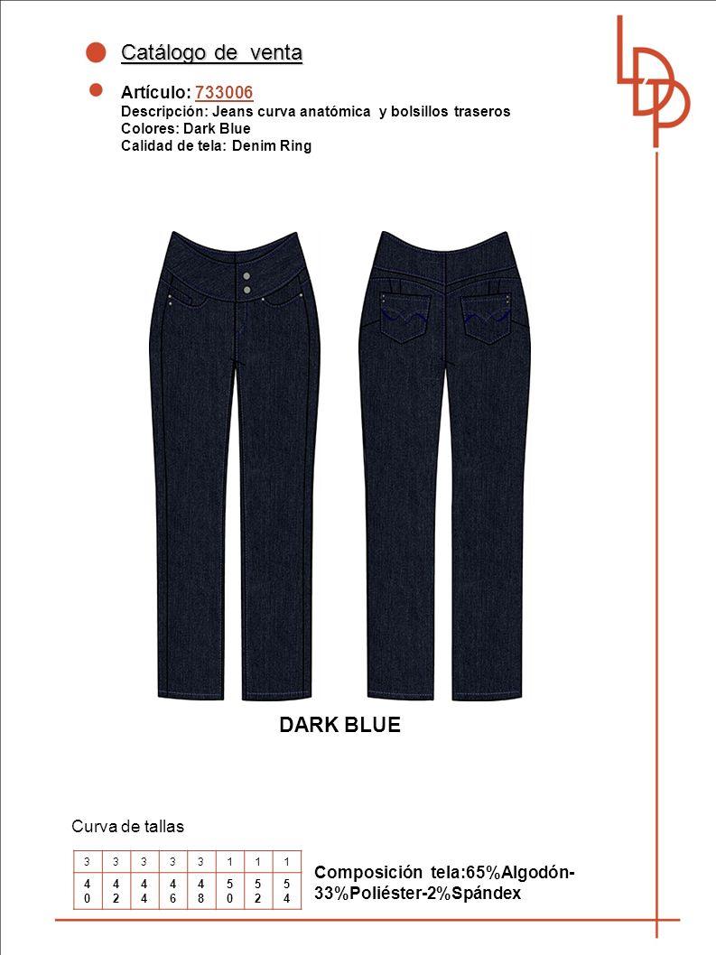 Catálogo de venta DARK BLUE Artículo: 733006 Curva de tallas