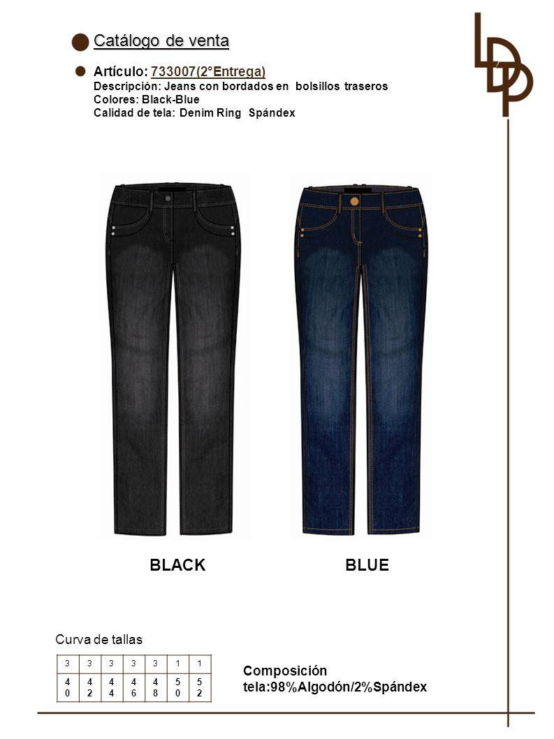 Catálogo de venta BLACK BLUE Artículo: 733007(2°Entrega)