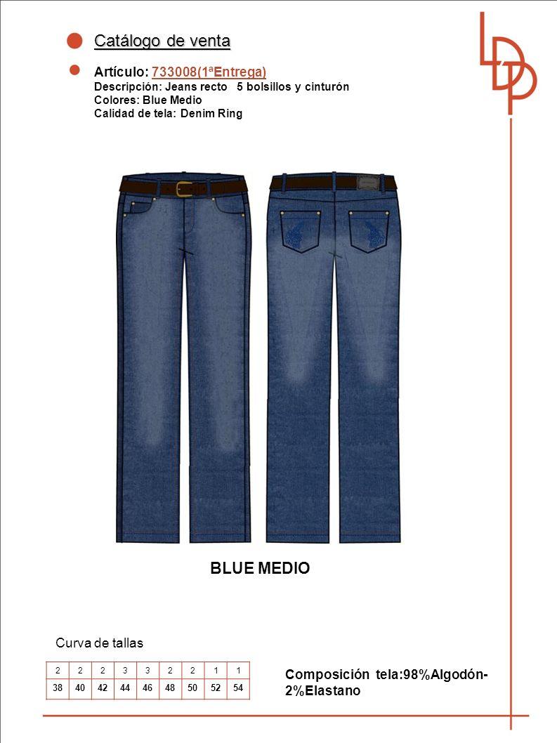 Catálogo de venta BLUE MEDIO Artículo: 733008(1ªEntrega)
