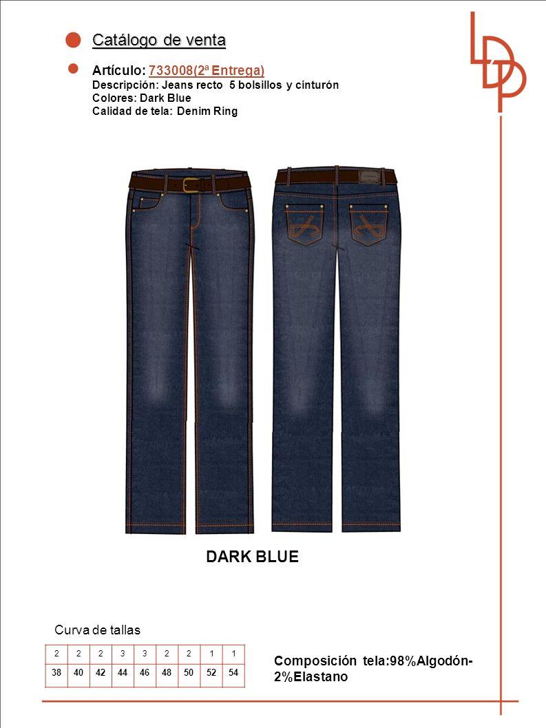 Catálogo de venta DARK BLUE Artículo: 733008(2ª Entrega)