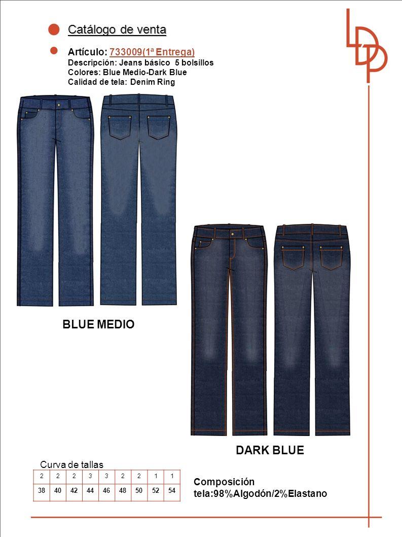 Catálogo de venta BLUE MEDIO DARK BLUE Artículo: 733009(1ª Entrega)