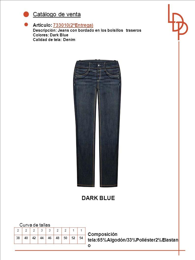 Catálogo de venta DARK BLUE Artículo: 733010(2ªEntrega)