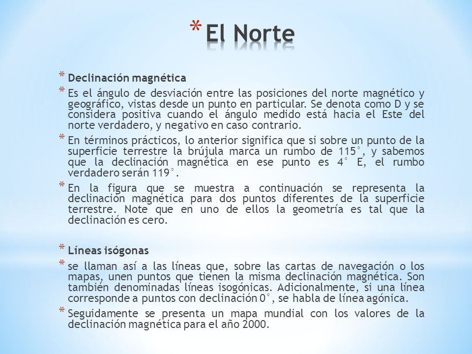 El Norte Declinación magnética
