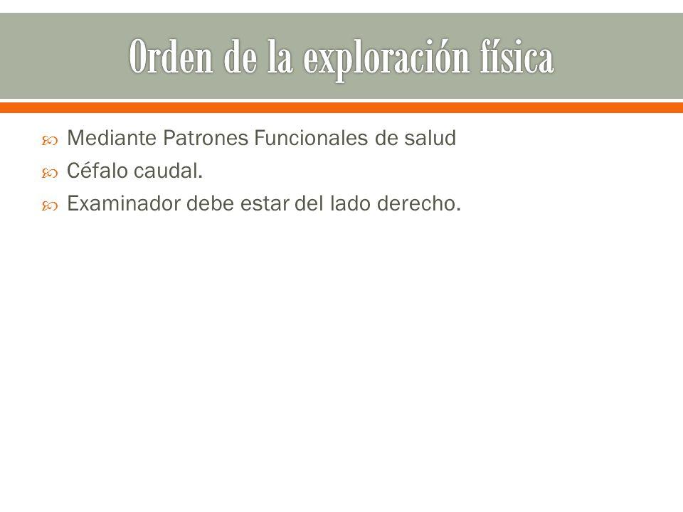 Orden de la exploración física