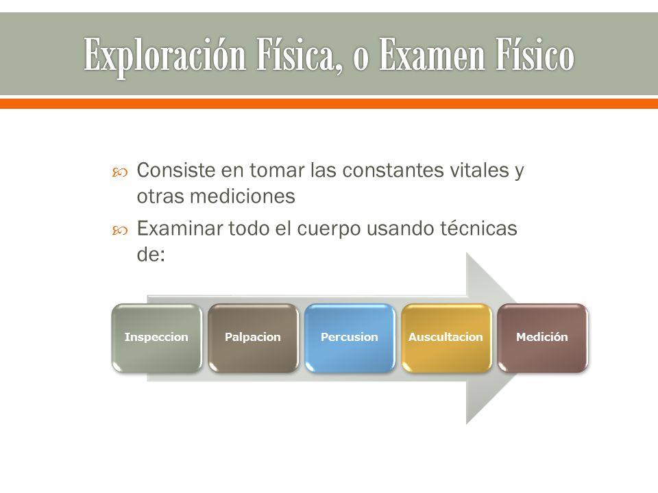 Exploración Física, o Examen Físico