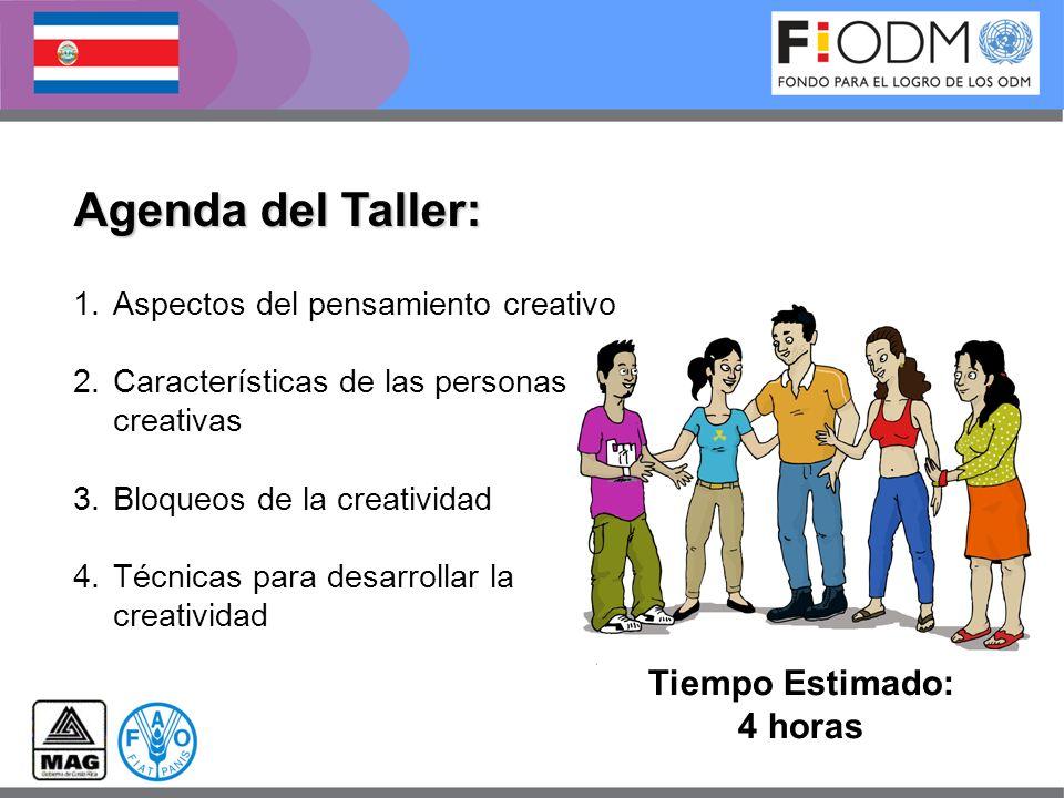 Agenda del Taller: Tiempo Estimado: 4 horas