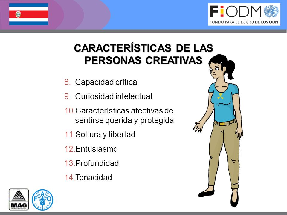 CARACTERÍSTICAS DE LAS PERSONAS CREATIVAS