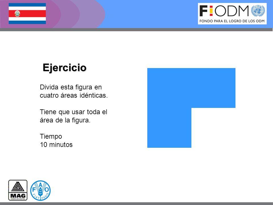 Ejercicio Divida esta figura en cuatro áreas idénticas.