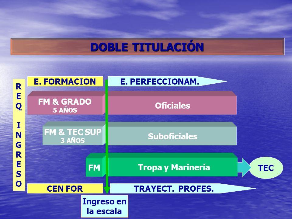 DOBLE TITULACIÓN E. FORMACION E. PERFECCIONAM. R E Q I N G S O