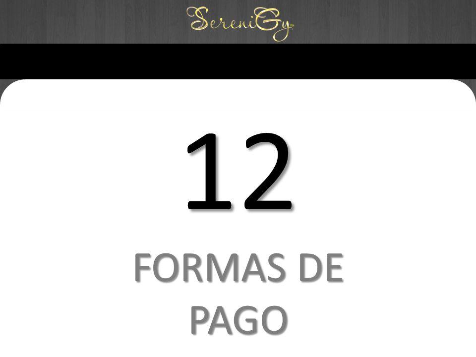 12 FORMAS DE PAGO