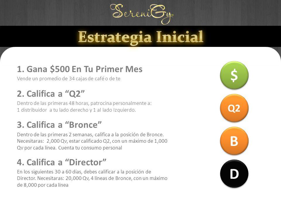 Estrategia Inicial $ B D Q2 1. Gana $500 En Tu Primer Mes