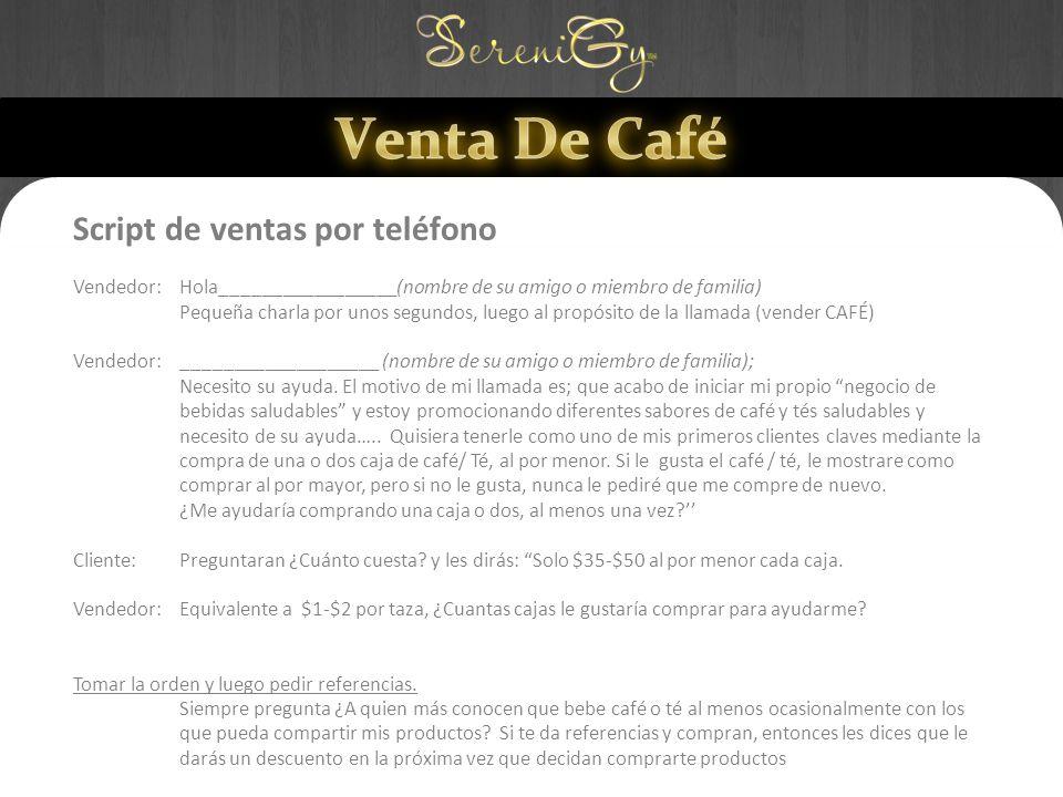 Venta De Café Script de ventas por teléfono