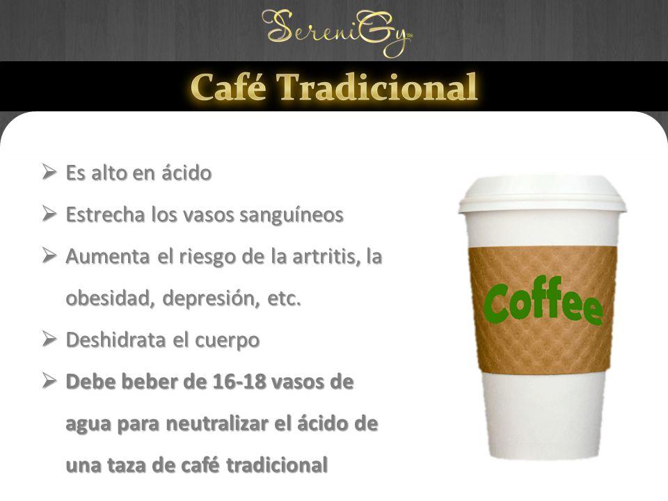 Café Tradicional Es alto en ácido Estrecha los vasos sanguíneos