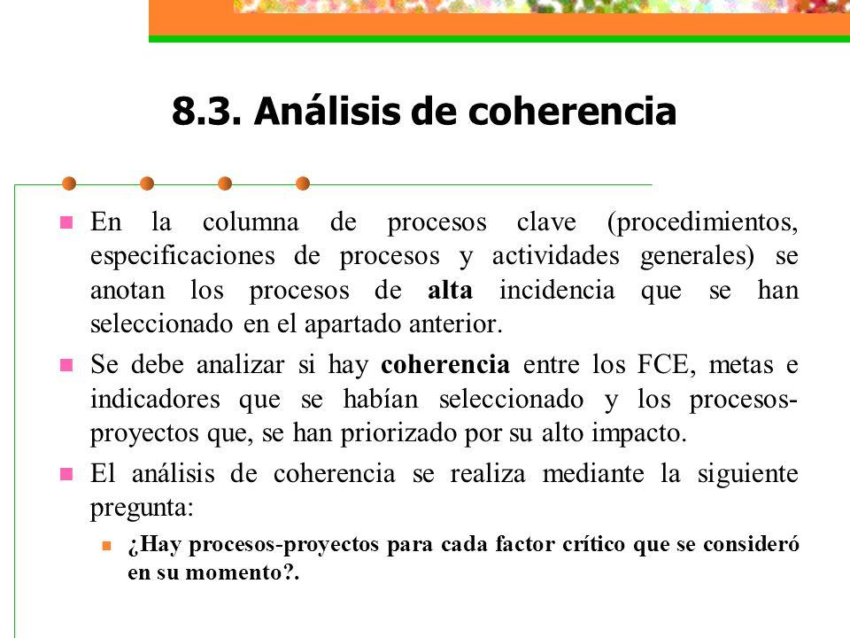 8.3. Análisis de coherencia
