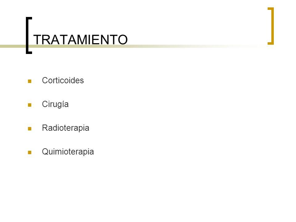 TRATAMIENTO Corticoides Cirugía Radioterapia Quimioterapia