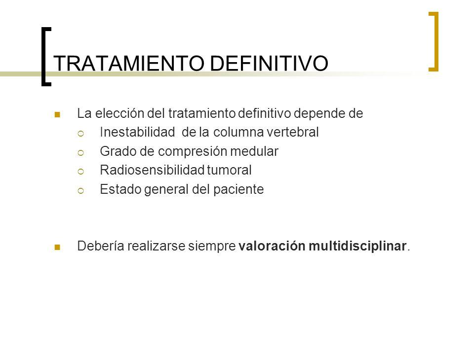 TRATAMIENTO DEFINITIVO