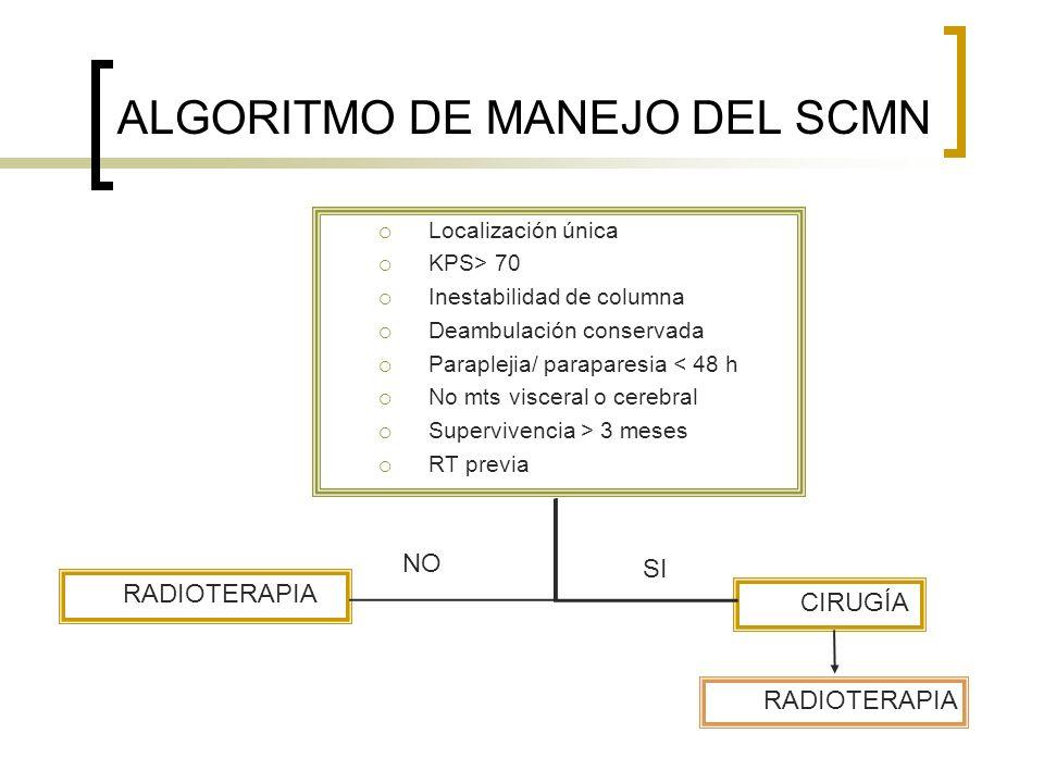 ALGORITMO DE MANEJO DEL SCMN