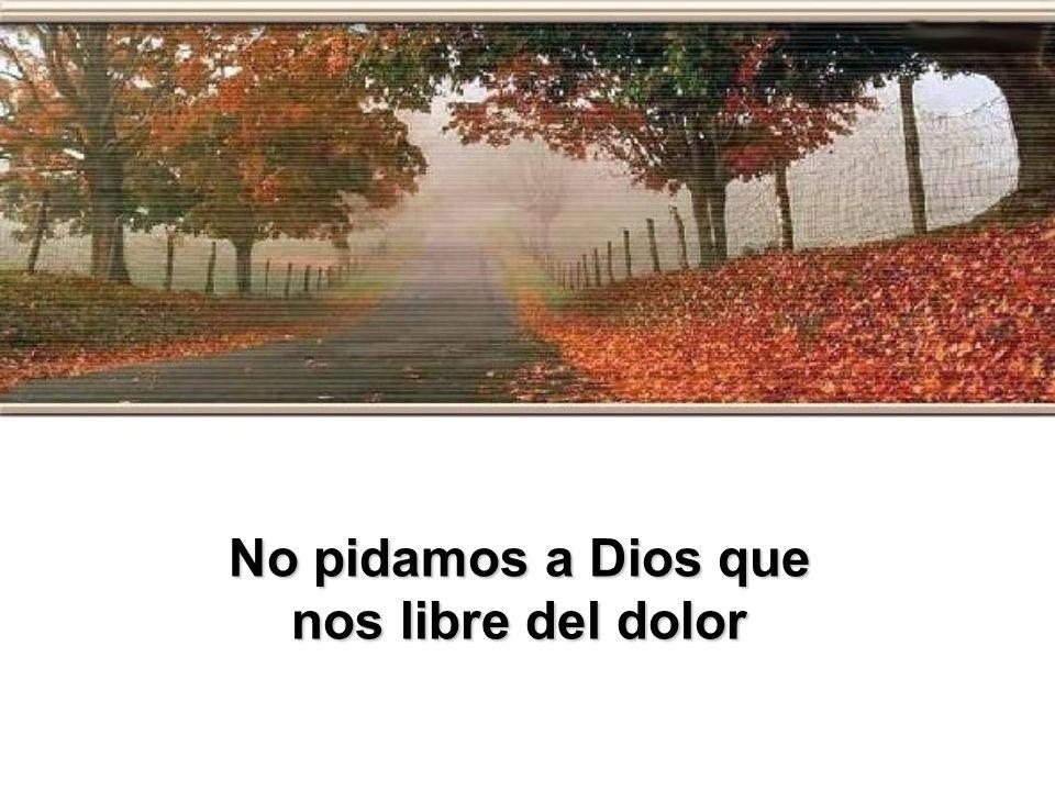 No pidamos a Dios que nos libre del dolor