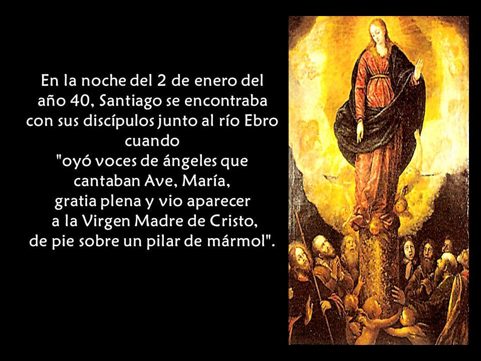 oyó voces de ángeles que cantaban Ave, María,