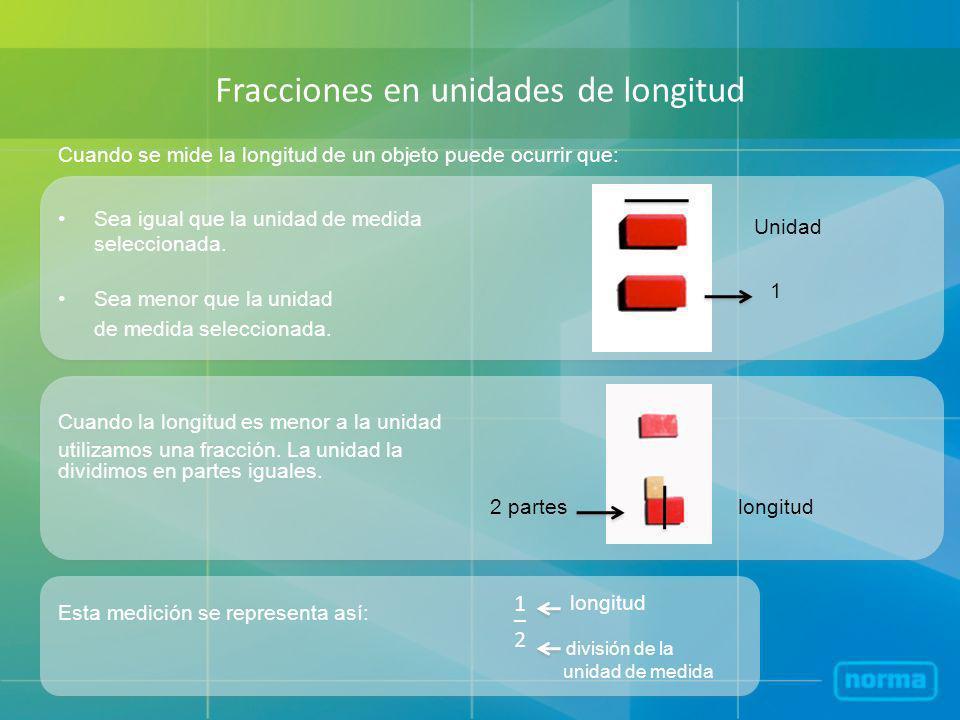 Fracciones en unidades de longitud