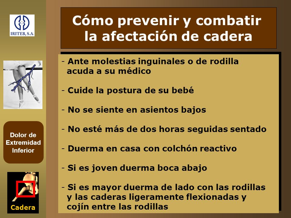 Cómo prevenir y combatir la afectación de cadera