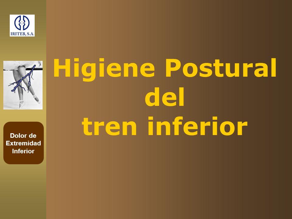 Higiene Postural del tren inferior