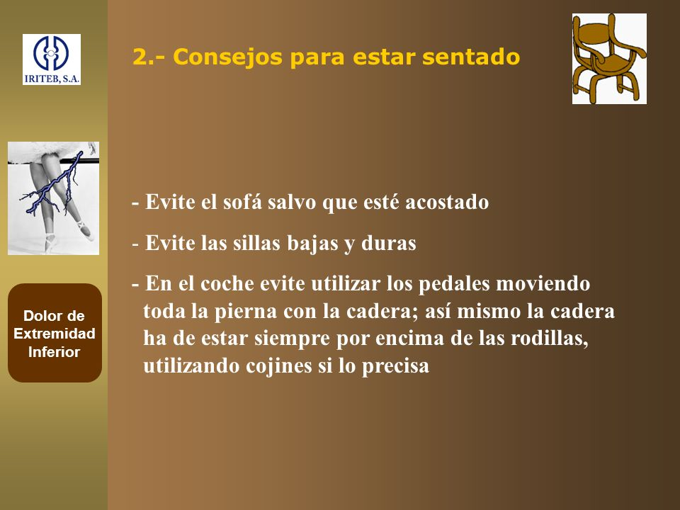 2.- Consejos para estar sentado
