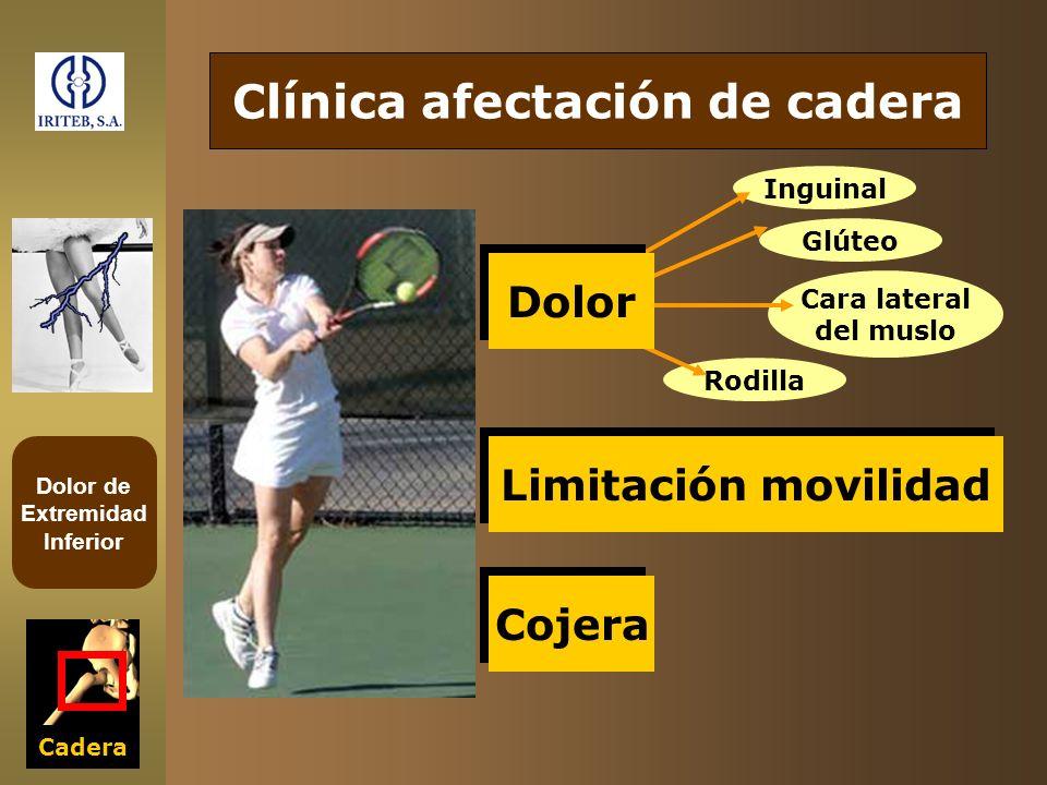 Clínica afectación de cadera