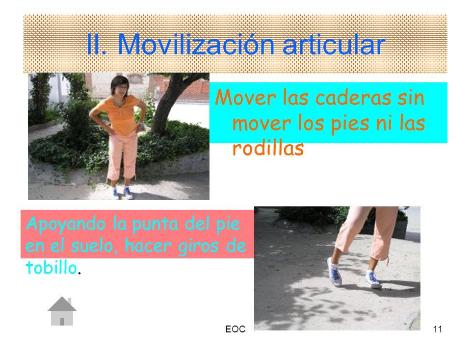 II. Movilización articular
