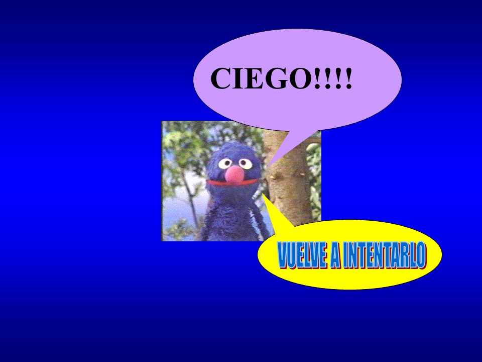 CIEGO!!!! VUELVE A INTENTARLO