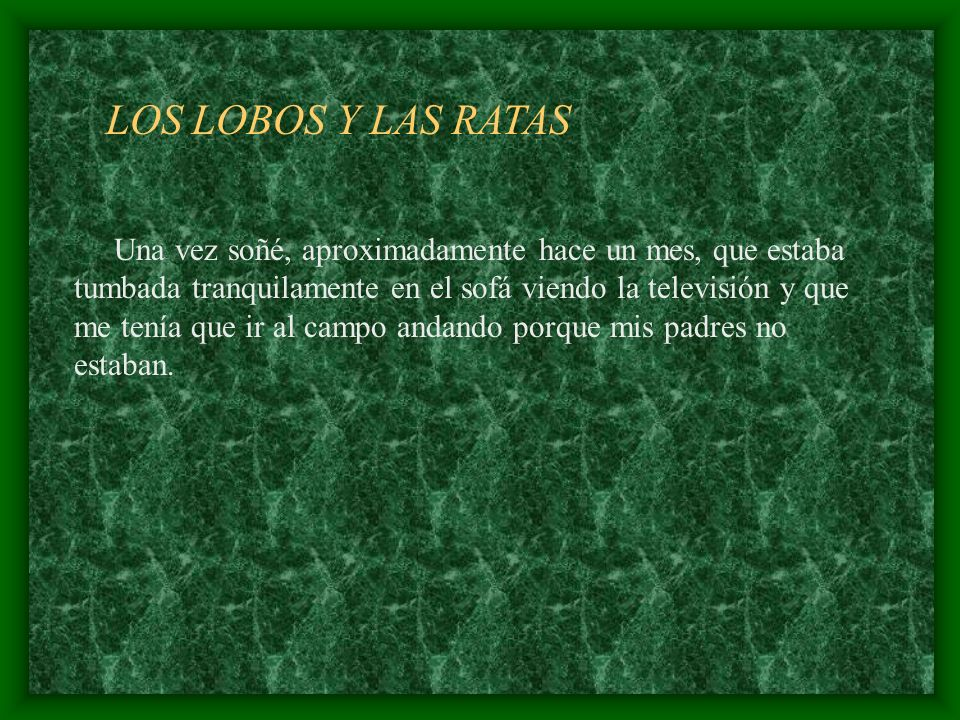 LOS LOBOS Y LAS RATAS