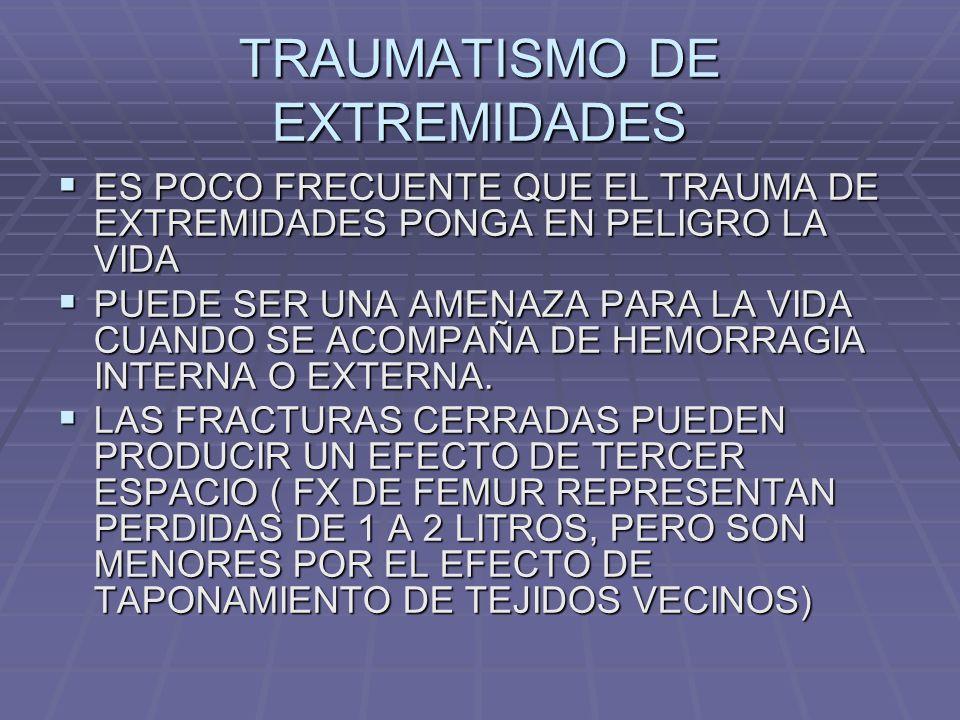 TRAUMATISMO DE EXTREMIDADES