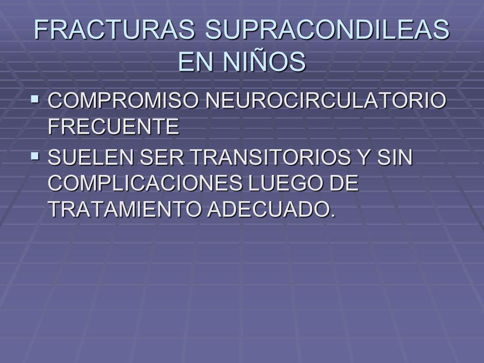 FRACTURAS SUPRACONDILEAS EN NIÑOS
