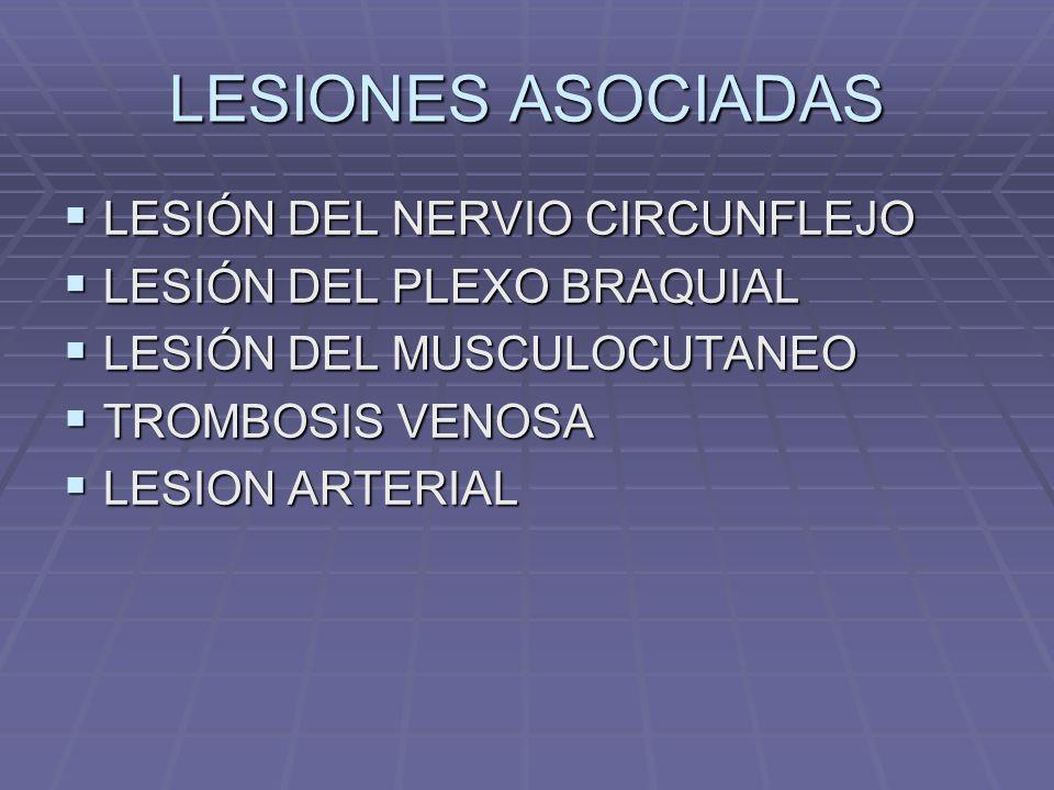 LESIONES ASOCIADAS LESIÓN DEL NERVIO CIRCUNFLEJO