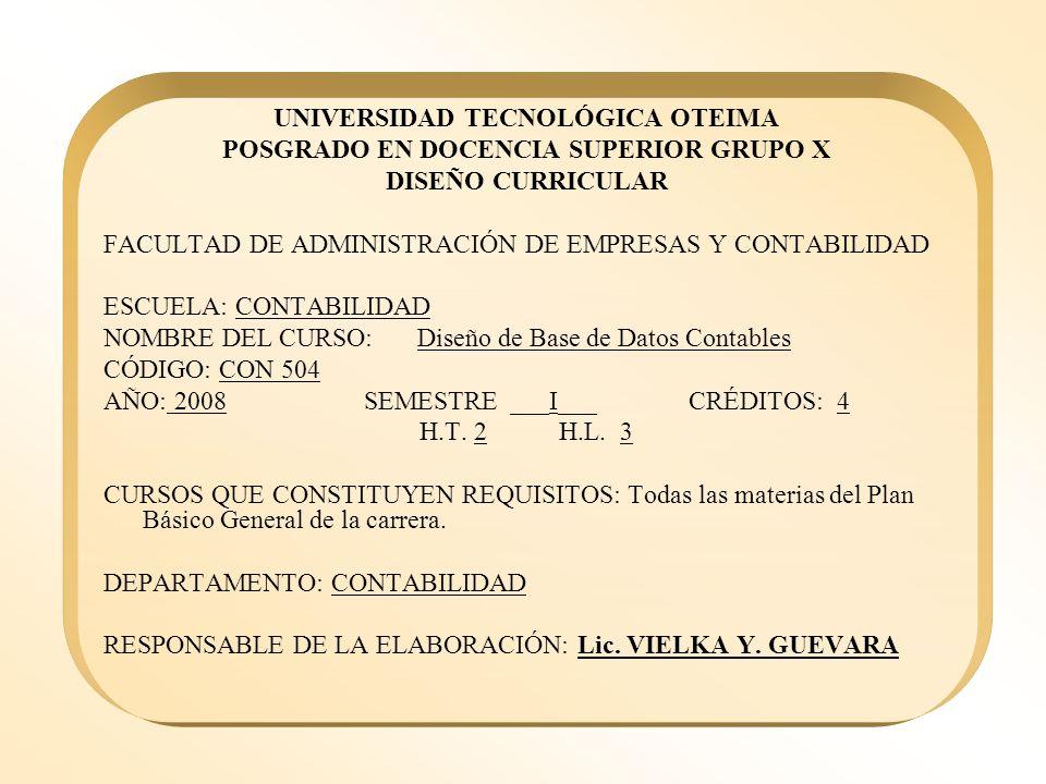UNIVERSIDAD TECNOLÓGICA OTEIMA POSGRADO EN DOCENCIA SUPERIOR GRUPO X
