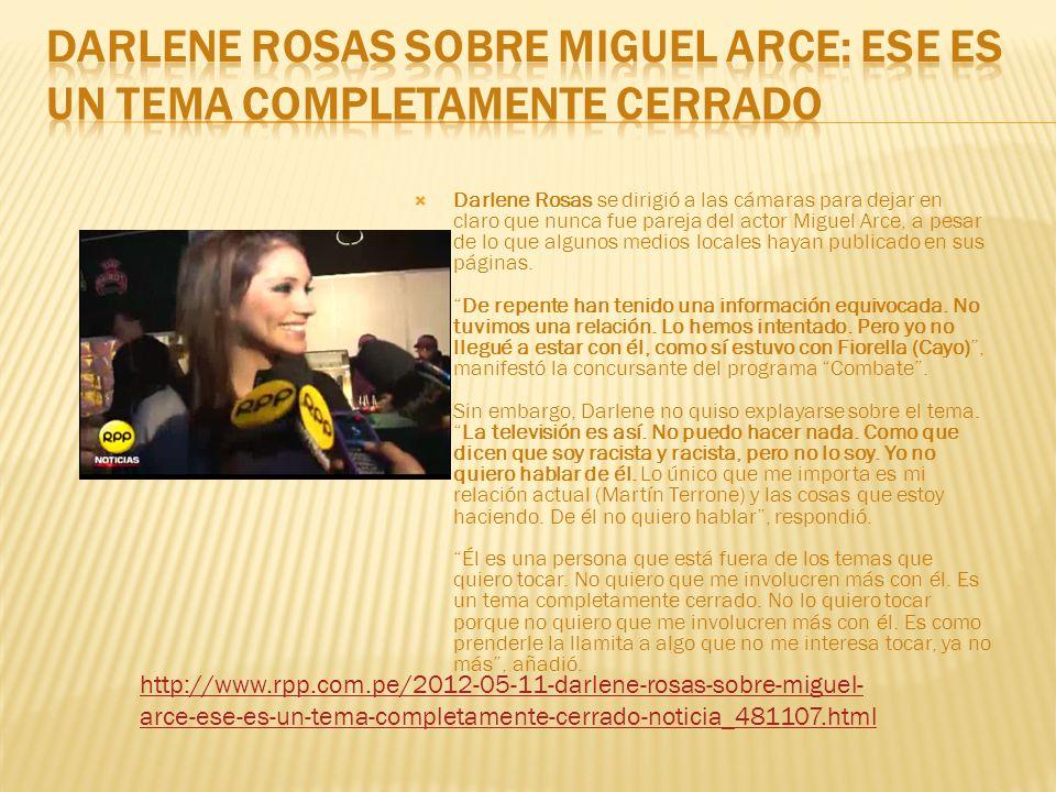 Darlene Rosas sobre Miguel Arce: Ese es un tema completamente cerrado