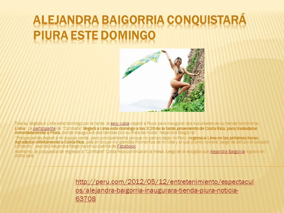 Alejandra Baigorria conquistará Piura este domingo