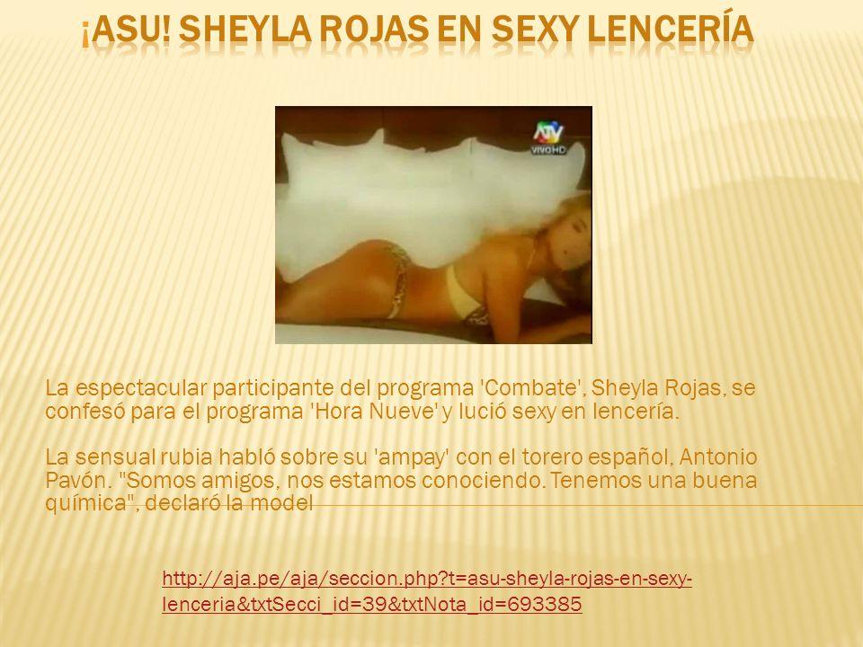 ¡Asu! Sheyla Rojas en sexy lencería