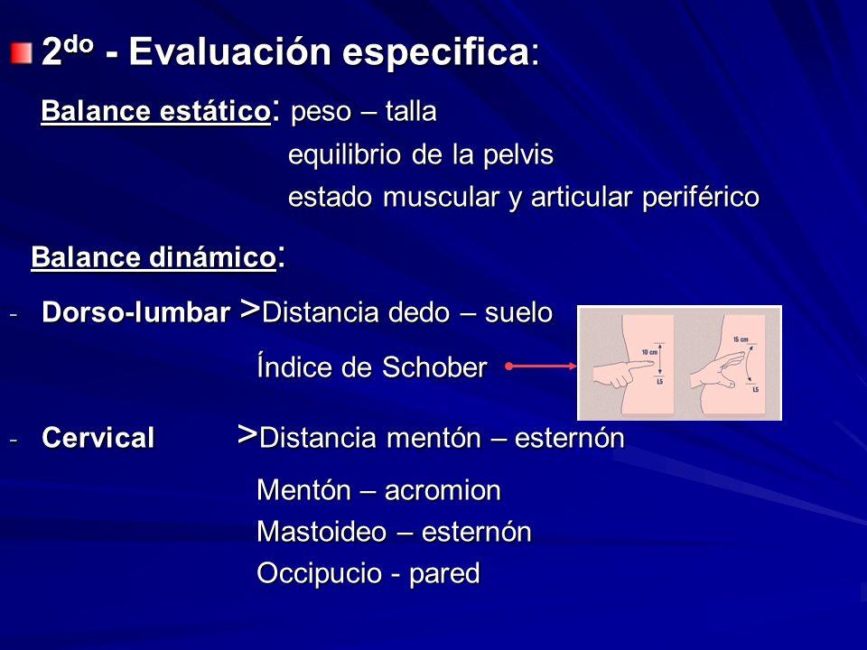 2do - Evaluación especifica: Balance estático: peso – talla