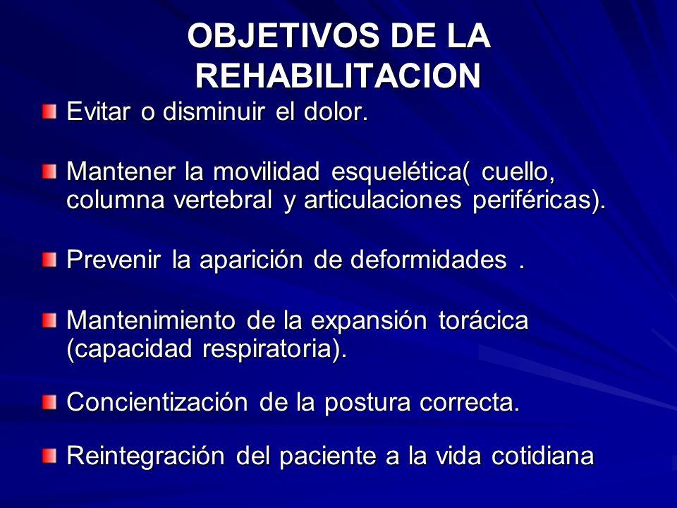 OBJETIVOS DE LA REHABILITACION