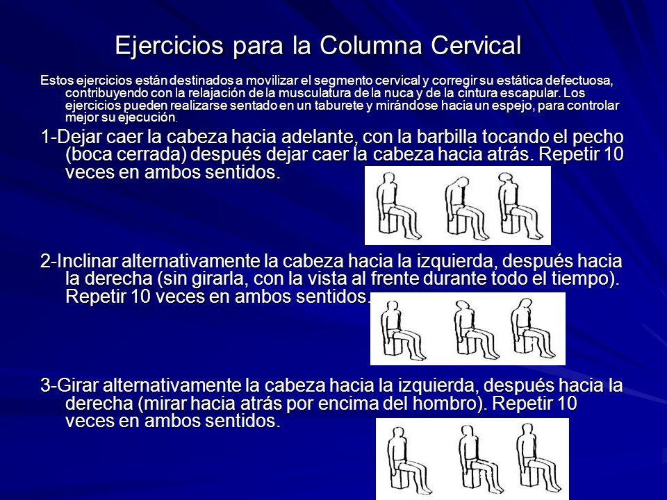 Ejercicios para la Columna Cervical