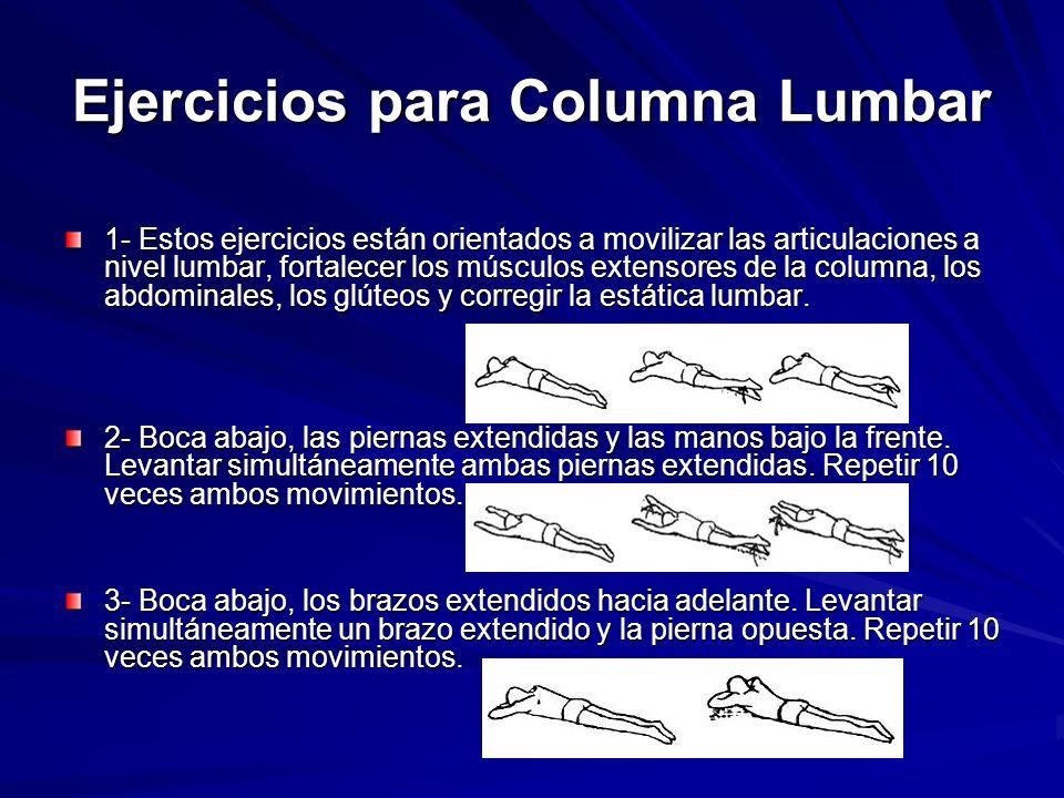 Ejercicios para Columna Lumbar