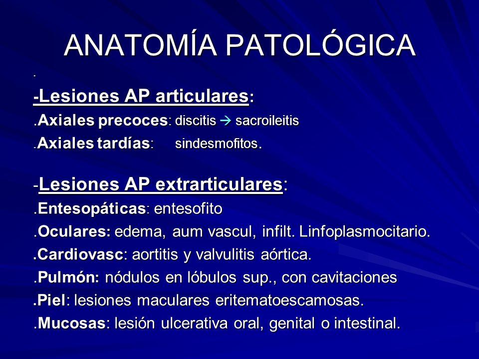 ANATOMÍA PATOLÓGICA -Lesiones AP articulares: