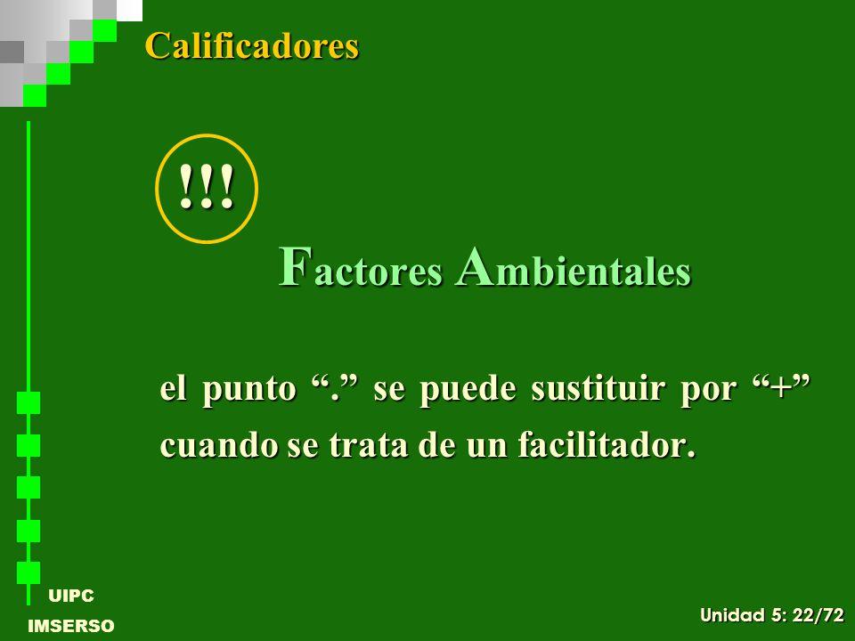 !!! Factores Ambientales Calificadores