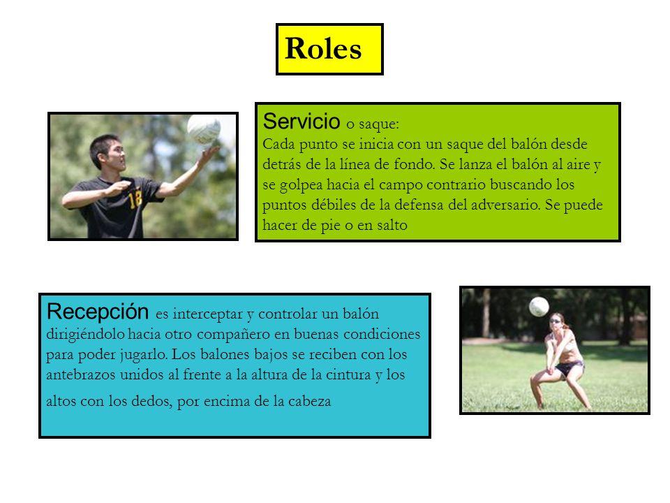 Roles Servicio o saque: